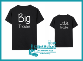 Twinning set T-Shirt vader en zoon Trouble