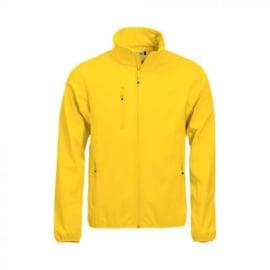 Softshell jas met glitterbedrukking