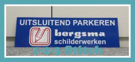 Parkeerbordje Bergsma Schilderwerken