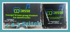 Aanhangwagen bestickerd voor DJ Jesse