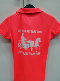 Polo met opdruk: Give your ass some class, drive a shetland pony