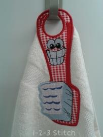 Handdoek hanger Tandenborstel