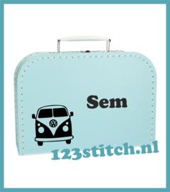 Kinderkoffertje Volkswagen met naam