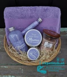 Moederdag badpakket groot paars