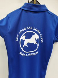 Polo met opdruk: Give your ass some class, ride a arabian