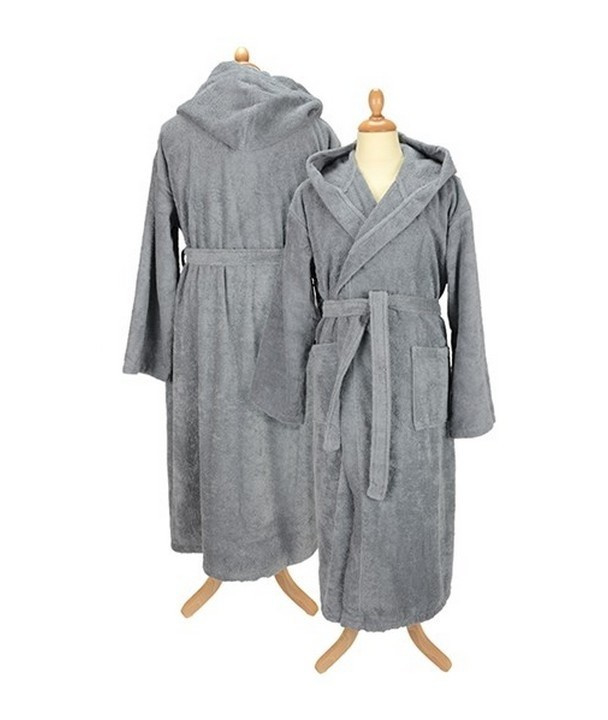 Badstof badjas met capuchon Anthracite Grey
