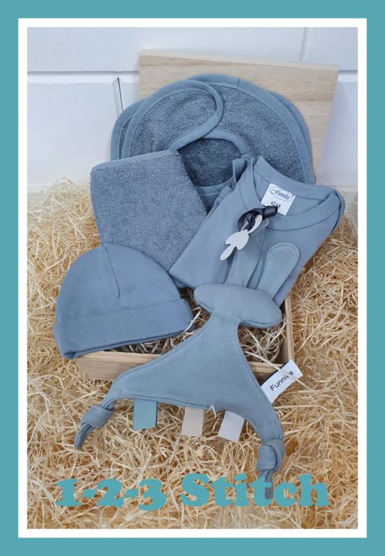 Houten kistje groot kraampakket Blue/grey