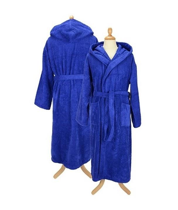 Badstof badjas met capuchon True Blue