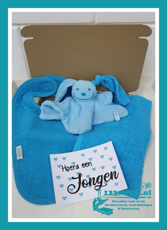 Brievenbus pakketje Turquoise/Blauw