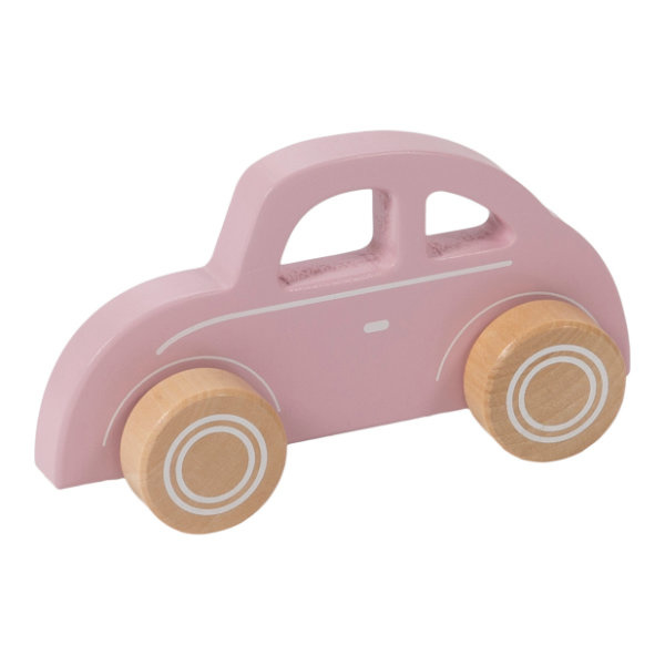 Little Dutch Houten auto - pink