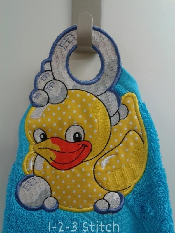 Handdoek hanger Badeendje