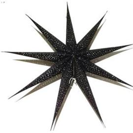 Papieren  kerstster zwart 90x90 cm