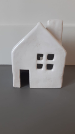 Keramiek handgemaakt huis Wit