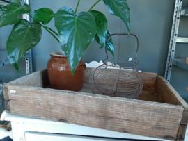 Brocante stoere houten kratje /  kistje