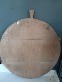 Brocante ronde houten broodplank