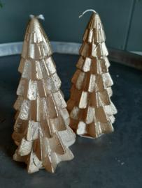 Gouden kerstboom kaars