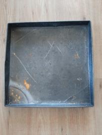 Industriële stoere vierkante dienblad