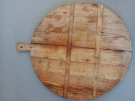Brocante Franse oude ronde broodplank koekplank nr 2