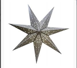 Kerstster grijs 80 cm.