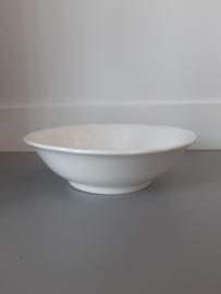 Witte brocante Société Céramique Schaal 23,5 cm