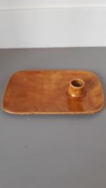 Kandelaar Cognac handgemaakt Keramiek