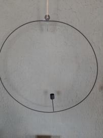 Hangkandelaar zwart 50 cm (met foutje)