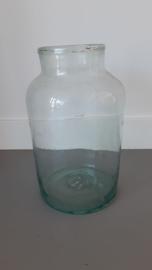 Brocante oude glazen vaas