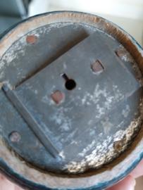 Brocante oude Franse houten spaarpot