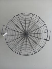 Zwarte metalen basket 40 cm.