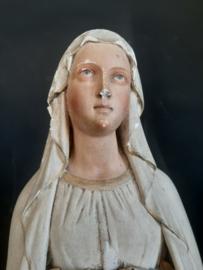 Brocante oude Mariabeeld 64 cm .