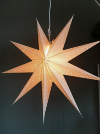 Witte papiere kerstster 60 x 60 cm.