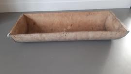 Brocante oude houten trog / deegtrog