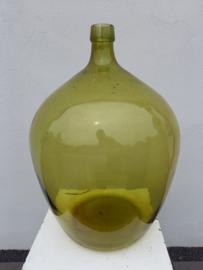 Groen / gele gistfles H 50 cm.