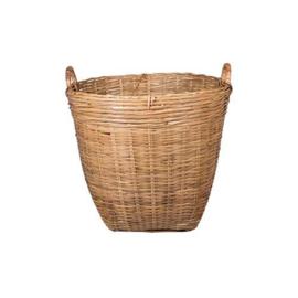 Bamboe rieten mand
