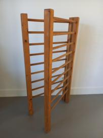 Franse brocante houten droogrek / wasrek