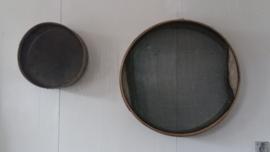 Franse brocante bakkerszeef / goudzeef Ø 33 cm