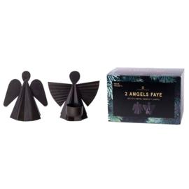 Metalen zwarte engelen  Faye.