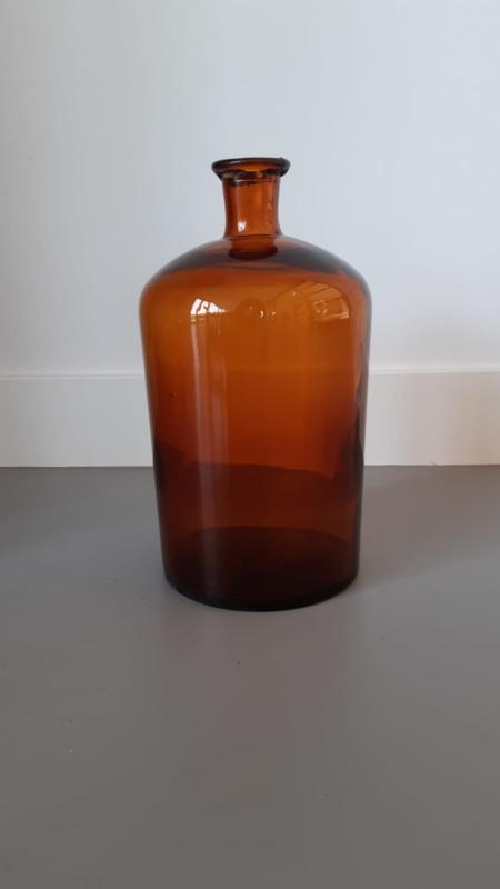 Franse oude bruine apothekers fles