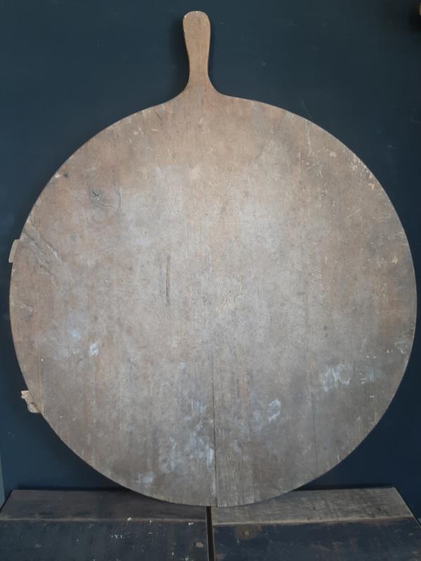 Brocante oude ronde broodplank