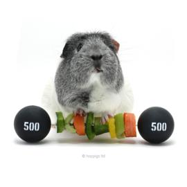 Piggy Weightlifter™ | Groenten en fruit spies