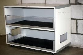 Caviameubel | Wit meubelplaat | 2 cavia etages | 100 x 91 x 50