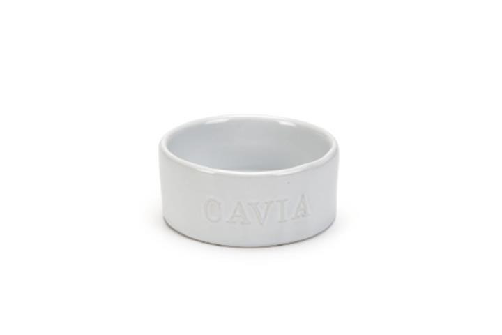 Voerbakje | Cavia | wit met witte letters