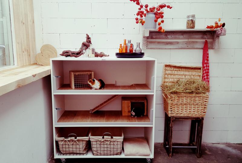 Caviameubel | wit meubelplaat | 3 etages | 100l x 131h x 50d