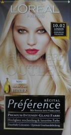 L`Oreal Recital Preference 10.02 Zeer Licht Parelmoer Blond