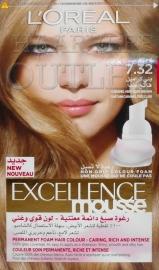 L`Oréal Excellence Mousse 7.32 Caramel Lichtbruin