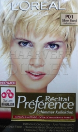 L`Oreal Recital Preference P01 Zilverblond