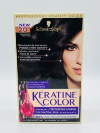 Schwarzkopf Keratine Color 2.0 Bruinzwart