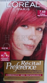 L`Oreal Recital Preference 7.60 Fel Dieprood