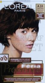 L`Oréal Féria preference 4.33 Donkergoud Kastanjebruin