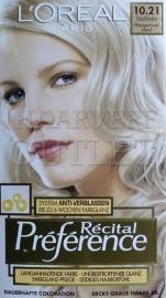 L`Oreal Recital Preference 10.21 Platina Parelblond